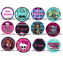 50 Toppers Tags Par Docinhos Monster High