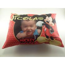 10 Almofadas Personalizadas Lembrança Aniversario Mickey