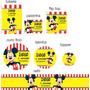 Rótulos Adesivos Personalizados Mickey 20 Unidades