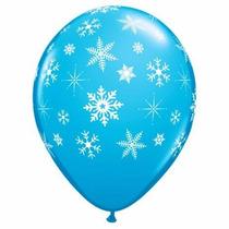 Bexiga Azul Com Floco De Neve Frozen
