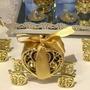 5 - Carruagem Douradas Em Plástico Da Cinderela