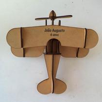 20 Avião Madeira Mdf Brinquedo Corte A Laser Com Nome