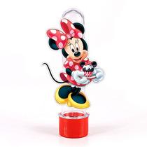 50 Tubetes 3d Personalizados Minnie Vermelha