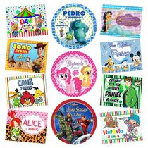 Rótulos Adesivos Personalizados Lembrancinha Festa Infantil