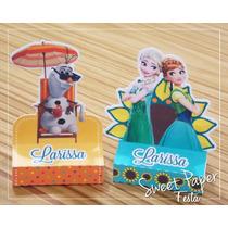 Caixa Bis Duplo - 10 Unid.- Festa Infantil Frozen Fever
