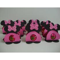 Porta Bombom Da Minnie Rosa Em Eva Kit Com 10 Unidades