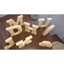 Kit Alfabeto Letras Mdf Cru Com 12cm Altura - ( 16 Letras )