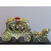 Mini Carruagem Dourada 17cm - Kit 10 Unidades - Promoção!