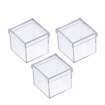 Caixinha Em Acrilico 4x4 (50 Unidades ) Lembrancinhas