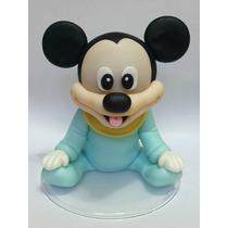 Topo De Bolo Disney Baby Mickey Ou Minnie Decoração Biscuit