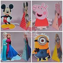 20 Centros De Mesa Frozen Mickey Peppa Minions Princesas