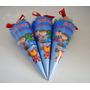 50 Cones Personalizados+saquinho E Fita De Cetim