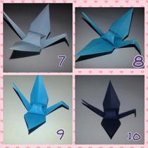 Origami Tsuru Azul Claro 100 Unidades- Tamanho 10 Cm