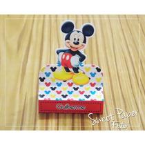 Caixa Bis Duplo - 10 Unid.- Festa Infantil Mickey