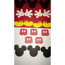 Kit De Recortes Mickey Luvas,shorts Para Decorações 6,50