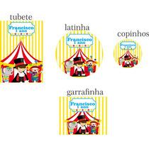 Rótulos Adesivos Personalizados Etiquetas Para Festas Circo