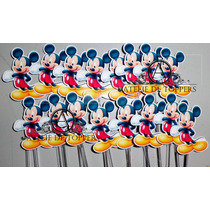 Toppers, Tags, Totens Mickey & Minie 3.5cm 100 Unidades