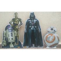 9 Star Wars Chão E Mesa Cenário Decoração Festa Infantil Mdf