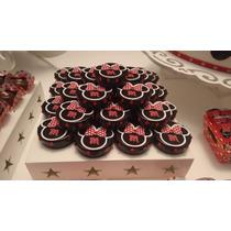 30 Lembrancinha Latinha Minnie Vermelha Personalizada Promo