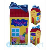 30 Caixas Leite Personalizada Caixinha Surpresa 10x4x4