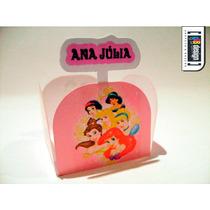 100 Forminhas Princesas Disney Com Mini Toten Personalizado