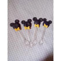 Colherzinha Biscuit Mickey E Minie Kit Com 25