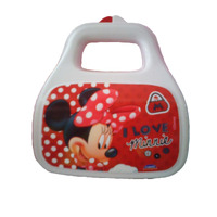 Lancheira Minnie Porta Mix Com Alça Vermelho/branco Plásutil