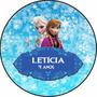 Kit 120 Rótulos Adesivos Personalizados Frozen+brinde!