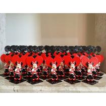 Lembrancinha Minnie Vermelha / Rosa Ou Mickey Em Biscuit