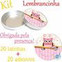 Kit Lembrancinha Latinha De Metal + Adesivo Corujinha