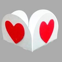 Forminhas Para Doces Finos Coração Lote Com 100 Unidades