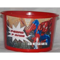 Kit 50 Baldes De Pipoca Personalizados Homem Aranha 1 Litro