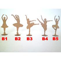 Kit 100 Bailarinas Mdf Crú 15cm Lembrança Festa Anivérsário