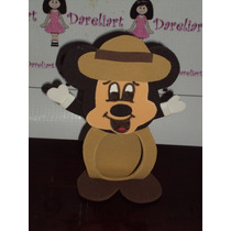 Porta Bombom Mickey Safari Em Eva 10 Cm - Kit C/10 - Mickey