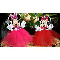 Tubetes Decorados Minnie Vermelha Ou Rosa 12 Unidades