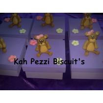 Caixinhas Ursinha De Biscuit