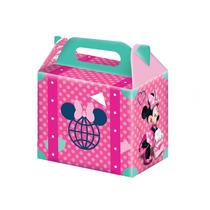 Caixa Surpresa De Aniversário Festa Minnie Rosa 8 Unidades