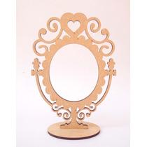 Kit 10 Espelhos De Mesa - Mdf Crú - Festa - Princesa- Fotos