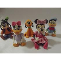 Turma Mickey E Minnie Biscuit -lembrancinha Aplique 25 Unid.