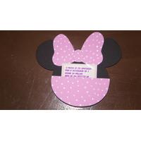 Convite De Aniversário Tema Minnie Kit Com 10 Un.