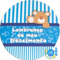 100 Adesivo Lembrancinha Nascimento Chá De Bebê Menino