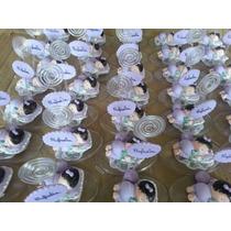 50 Lembrancinhas De Nascimento Em Biscuit Com Porta Recado