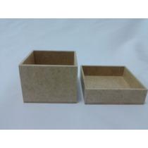 Atenção Artesãs Kit 100 Caixas 7x7x5 Mdf Cru Preço Fábrica