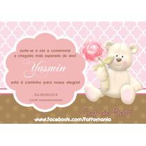 Arte Convite Chá De Bebê Urso Coruja Turma Da Mônica Ursinho
