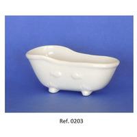 Miniatura De Porcelana - Mini Banheira Gde. - Caixa 20 Unids