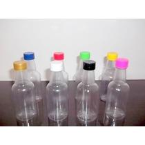 50 Mini Garrafinhas De Plastico 50ml Com Tampas Coloridas