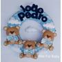 Guirlanda De Feltro Ursinhos Principes Porta Maternidade