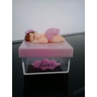 Lembrancinha Maternidade Biscuit Bebe Caixinha De Acrilico