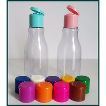 Garrafinha Plastica 60ml Tampa Flip Top Color 150 Unidades