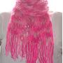 Cachecol De Lã Tons De Penélope Feito Tear Longo Rosa Pink
